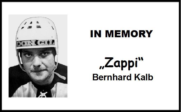 """Wir gedenken Bernhard """"Zappi"""" Kalb"""