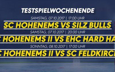 Testspielwochenende im Eisstadion Hohenems!